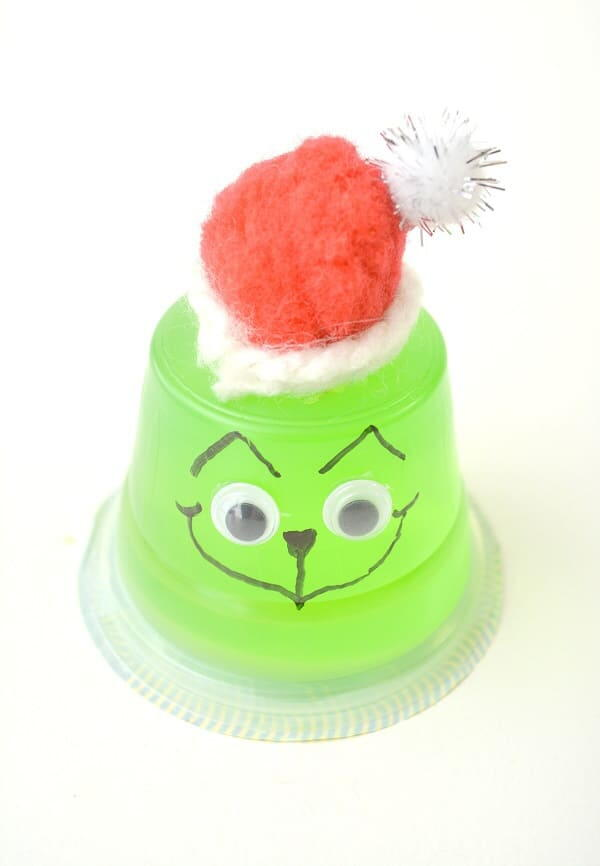 Grinch Christmas Jello Snack Cup