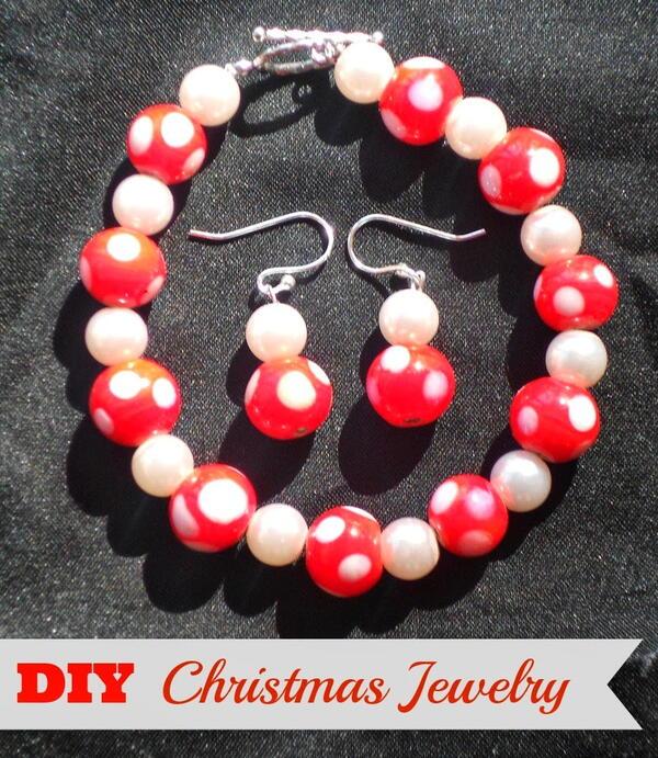 Diy Christmas Jewelry Or Handmade Christmas Gifts - Christmas Bling!
