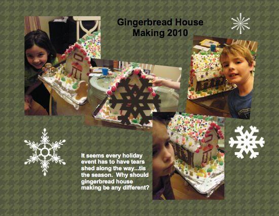Craftastic - Gingerbread House Digital Scrapbook Page