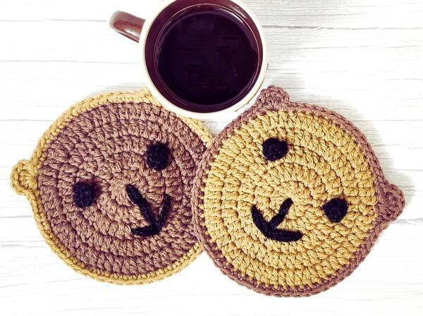Crochet Teddy Bear Coaster Free Pattern