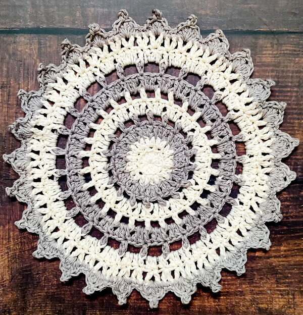 Two Shades Ombre Crochet Doily