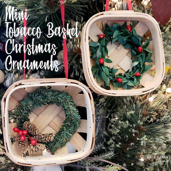 Mini Tobacco Basket Ornaments