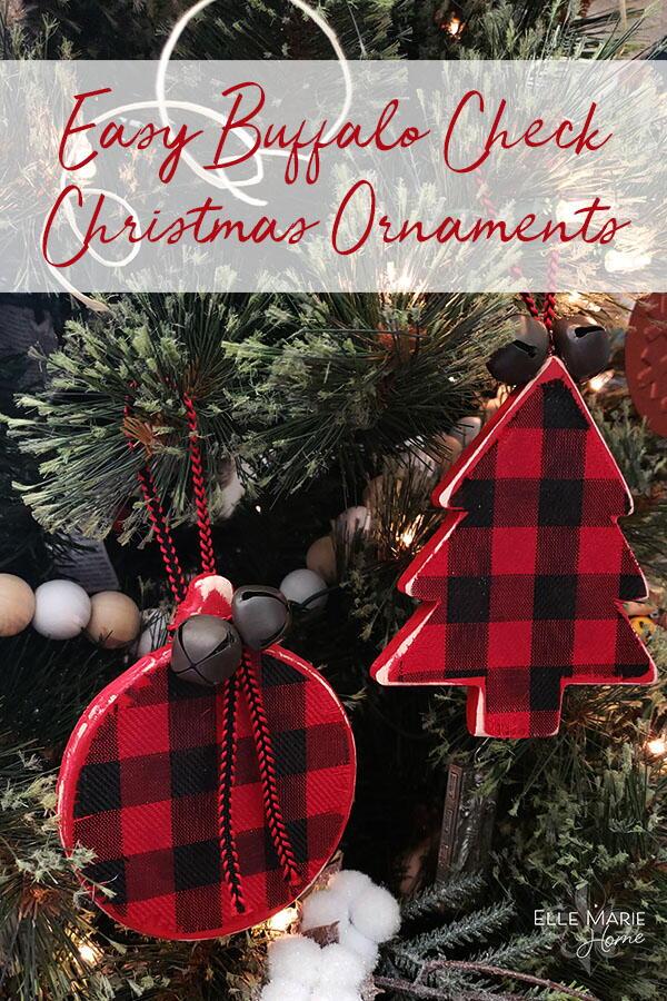 Buffalo Check Christmas Ornaments