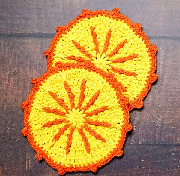 Sunshine Crochet Coasters Easy Crochet Tutorial