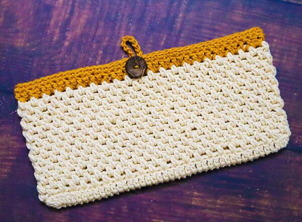 Crochet Hand Clutch Purse