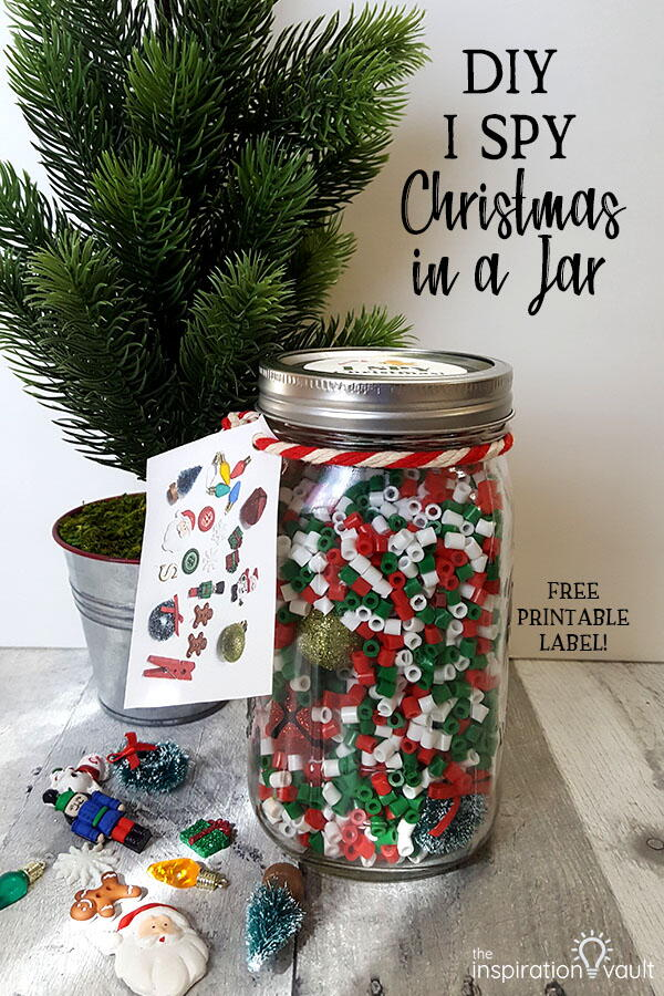 Christmas I Spy In A Jar