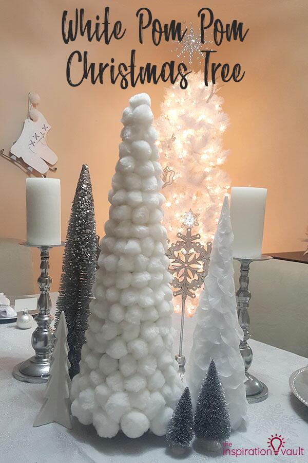 White Pom Pom Christmas Tree