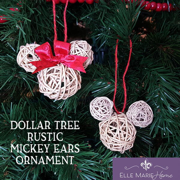 Dollar Tree Mickey Ears Ornaments